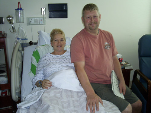Chris and Melissa during labor